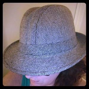 Other - Tweed Herringbone Walking Hat/Fedora